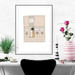 Holly Golightly's Mailbox Fashion Illustration Art Poster