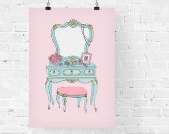 Vanity Decorative Illustration Art Print
