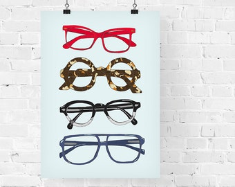 Four Eyes Fashion Illustration Art Print