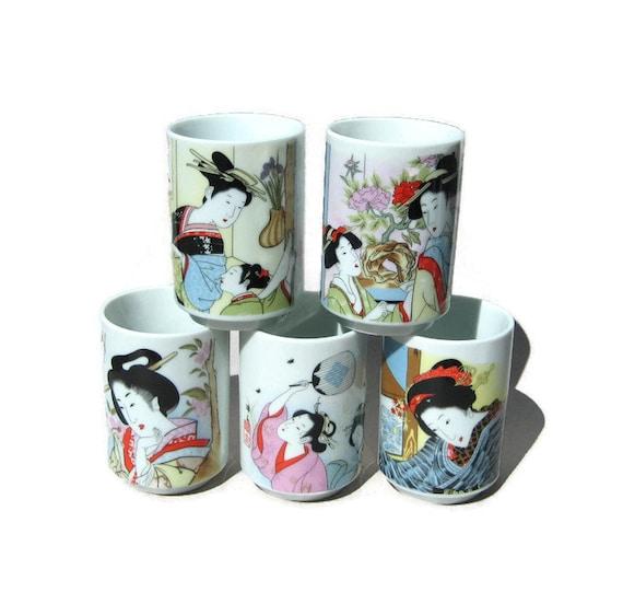 Japanese geisha girl mugs