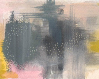abstract painting on paper- staying