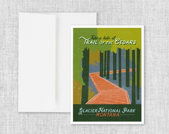 Trail of the Cedars - Greeting Card