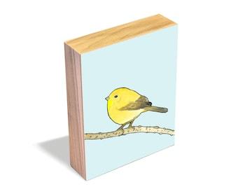 Common Yellowthroat - Wood Art Block
