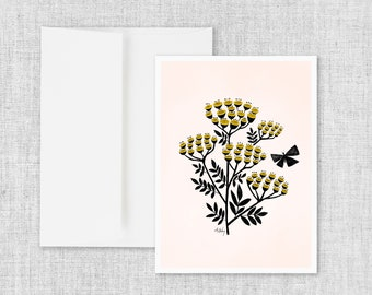 Buds and Butterflies - Greeting Card
