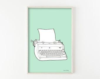 """""""Typewriter No. 4""""  - wall art print"""