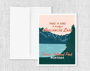 Avalanche Lake - Greeting Card