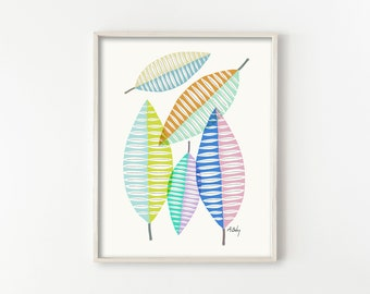 Mid Century Leaves