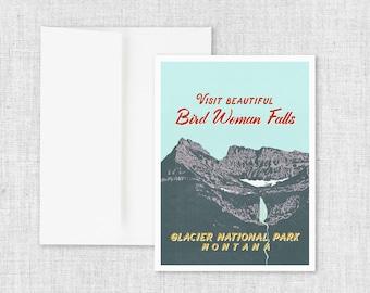 Bird Woman Falls - Greeting Card