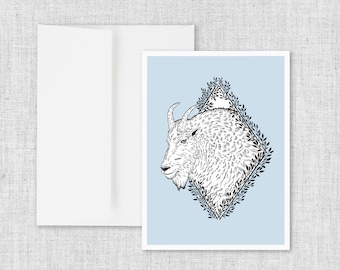 Rocky Mountain Goat - Greeting Card and Envelope