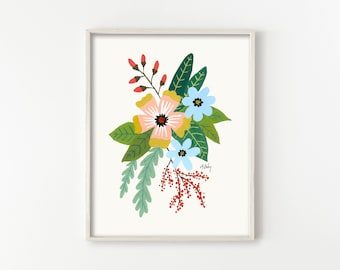 """Folk Art Flowers No. 4"""