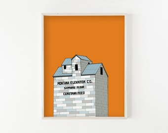 """Wilsall Grain Elevator"" - wall art print"