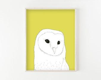 """Barn Owl"" - wall art print"
