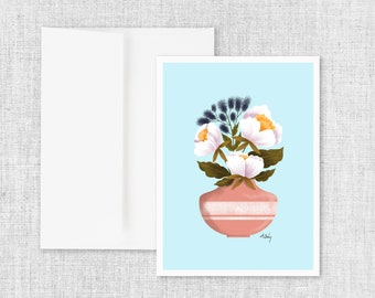 Baby Blue - Greeting Card