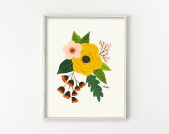 """Folk Art Flowers No. 3"""