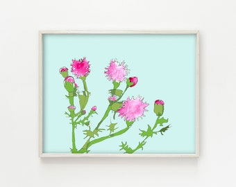 Pink Thistle Patch