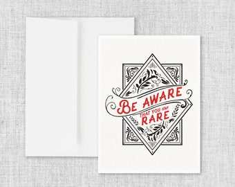 Be Aware - Greeting Card