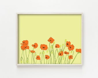 """Poppies"" - wall art print"