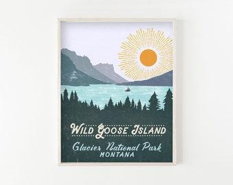 Glacier Park Posters