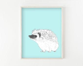 """Hedgehog"" - wall art print"