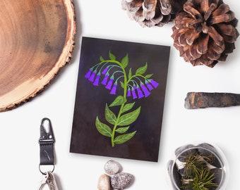 Original Bluebells Wildflower Painting