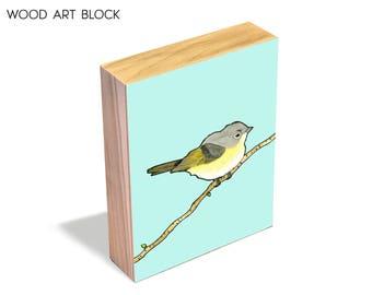 American Redstart - Wood Art Block