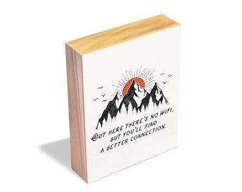 A Better Connection - Wood Art Block