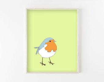 """""""Little Robin"""" - wall art print"""