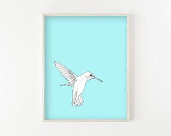 """""""Hummingbird"""" - wall art print"""