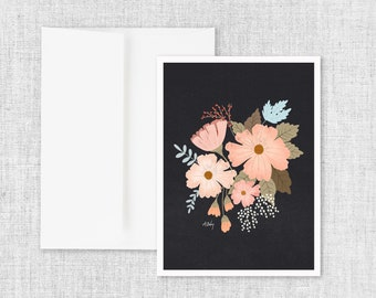 Dark Bouquet - Greeting Card