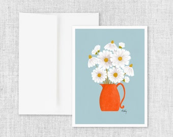 Daisies and Blue - Greeting Card