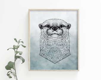 Otter Wall Art