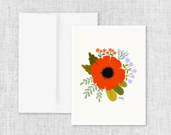 Crimson - Greeting Card