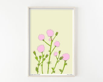 """""""Pink Thistle Patch"""" - wall art print"""