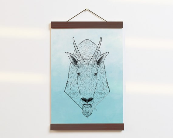 """Mountain Goat Portrait"" - STUDIO SALE!"