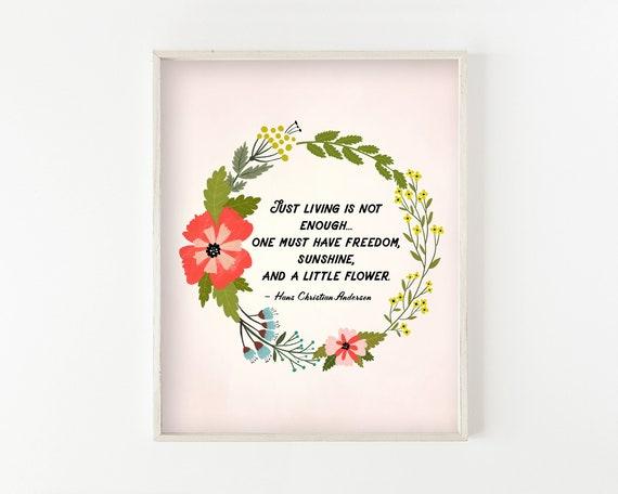 """A Little Flower"" - illustration print"