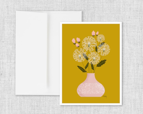 Dandelion Days - Greeting Card