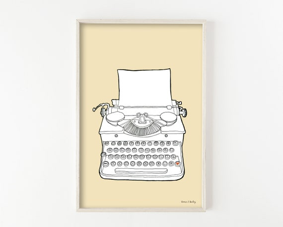 """Typewriter No. 2"" - wall art print"