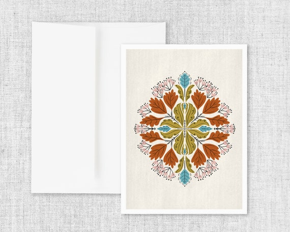 """""""Flora No. 1"""" - Abstract Floral Greeting Card"""