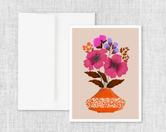 For Those Dark Days -  Floral Greeting Card