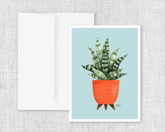 For the Sunshine -  Potted Plant Greeting Card