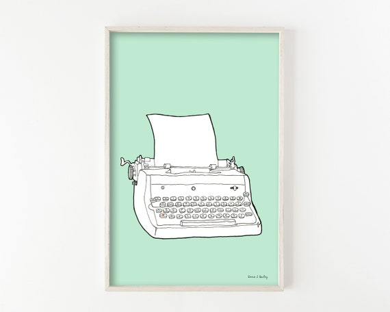 """Typewriter No. 4""  - wall art print"