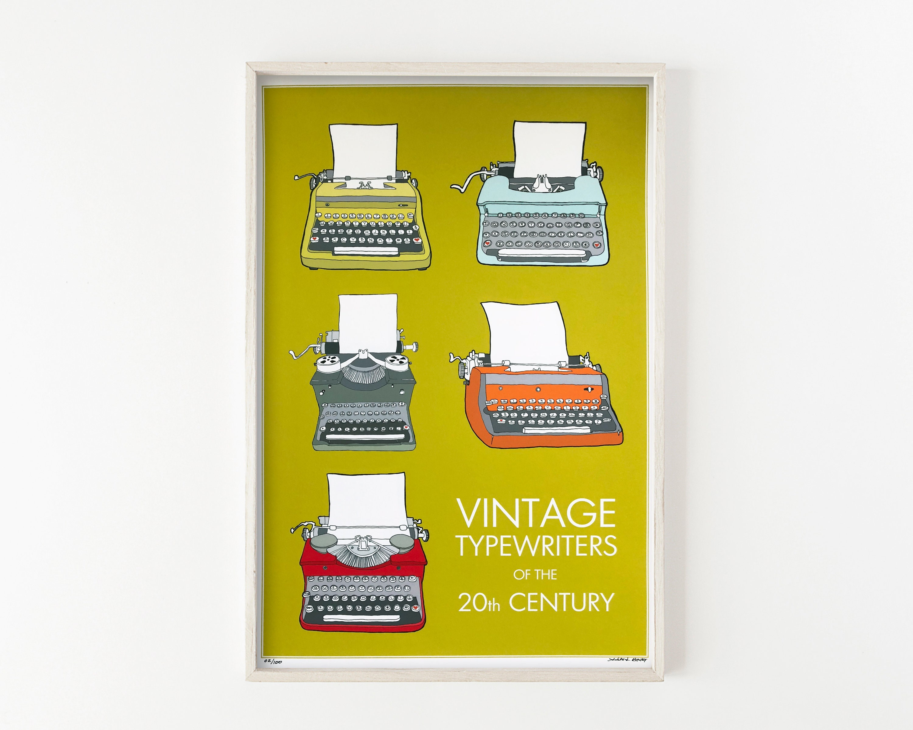 Typewriters of the 20th Century - wall art print
