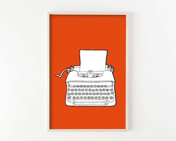"""Typewriter No. 7"" - wall art print"