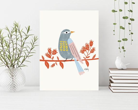 """Observing Birdie"" on canvas"
