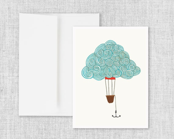 Cloud Balloon No. 1 - Greeting Card