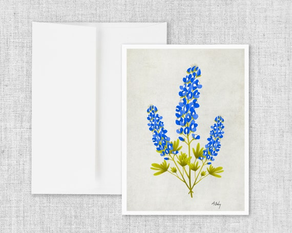 Bluebonnets Trio - Greeting Card