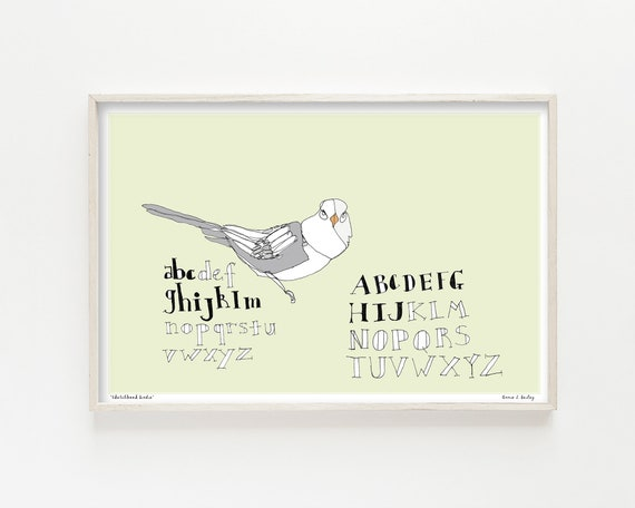 """Sketchbook Birdie"" - wall art print"