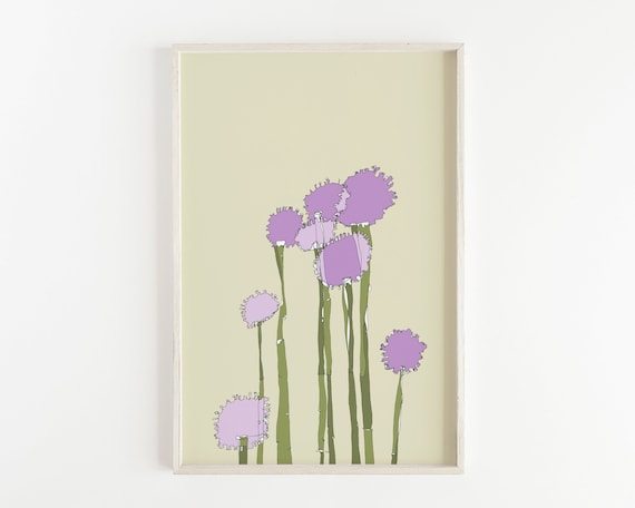 """Purple Allium"" - wall art print"