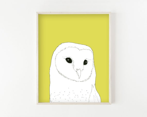 """Barn Owl"" - wall art print"