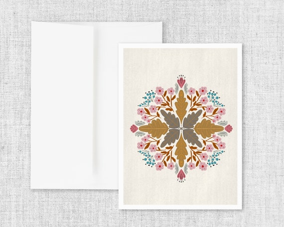 """""""Flora No. 3"""" - Abstract Floral Greeting Card"""
